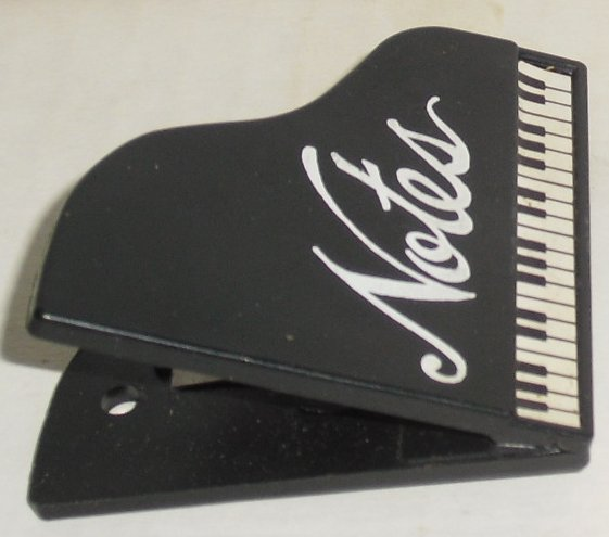REFRIGERATOR MAGNET black PIANO notes or 4 dollhouse