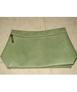 Clinique Green Faux Alligator Travel Pouch - $9.99