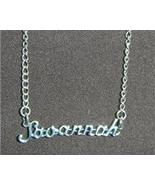 Sterling Silver Name Necklace - Name Plate - SAVANNAH - $54.00