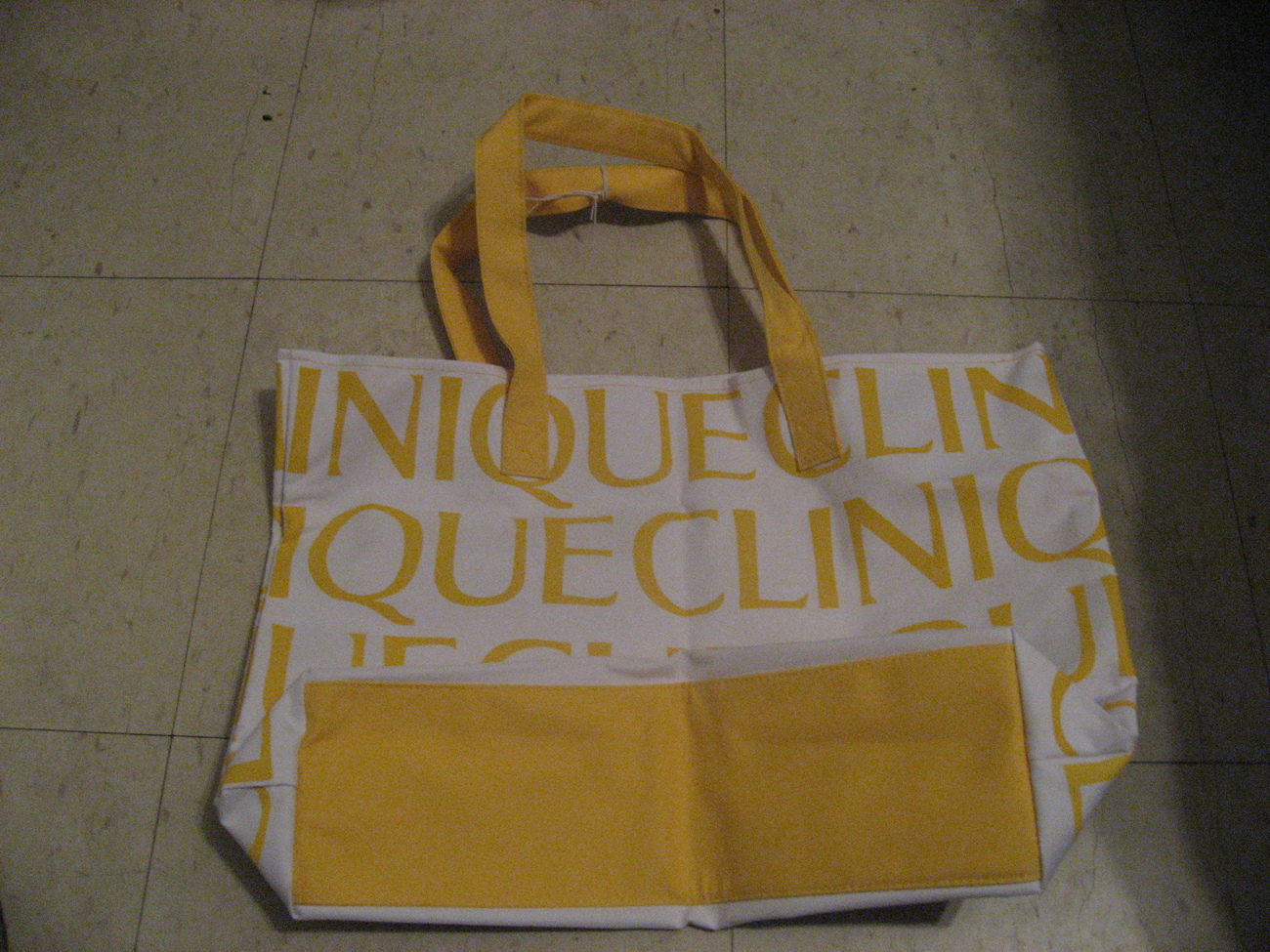 Clinique yellow tote
