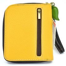 Chala Handbags Faux Leather Whimsical Sloth Mustard Zip Around Wristlet Wallet image 2