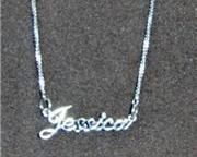 Sterling Silver Name Necklace - Name Plate - JESSICA