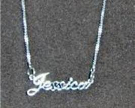 Sterling Silver Name Necklace - Name Plate - JESSICA - $54.00