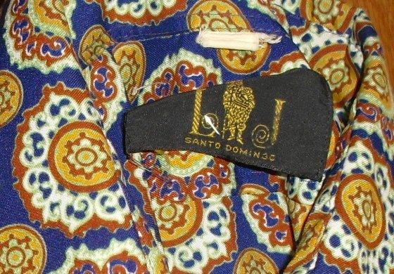 Vtg 70s Santo Domingo DISCO Pimp geometric Shirt