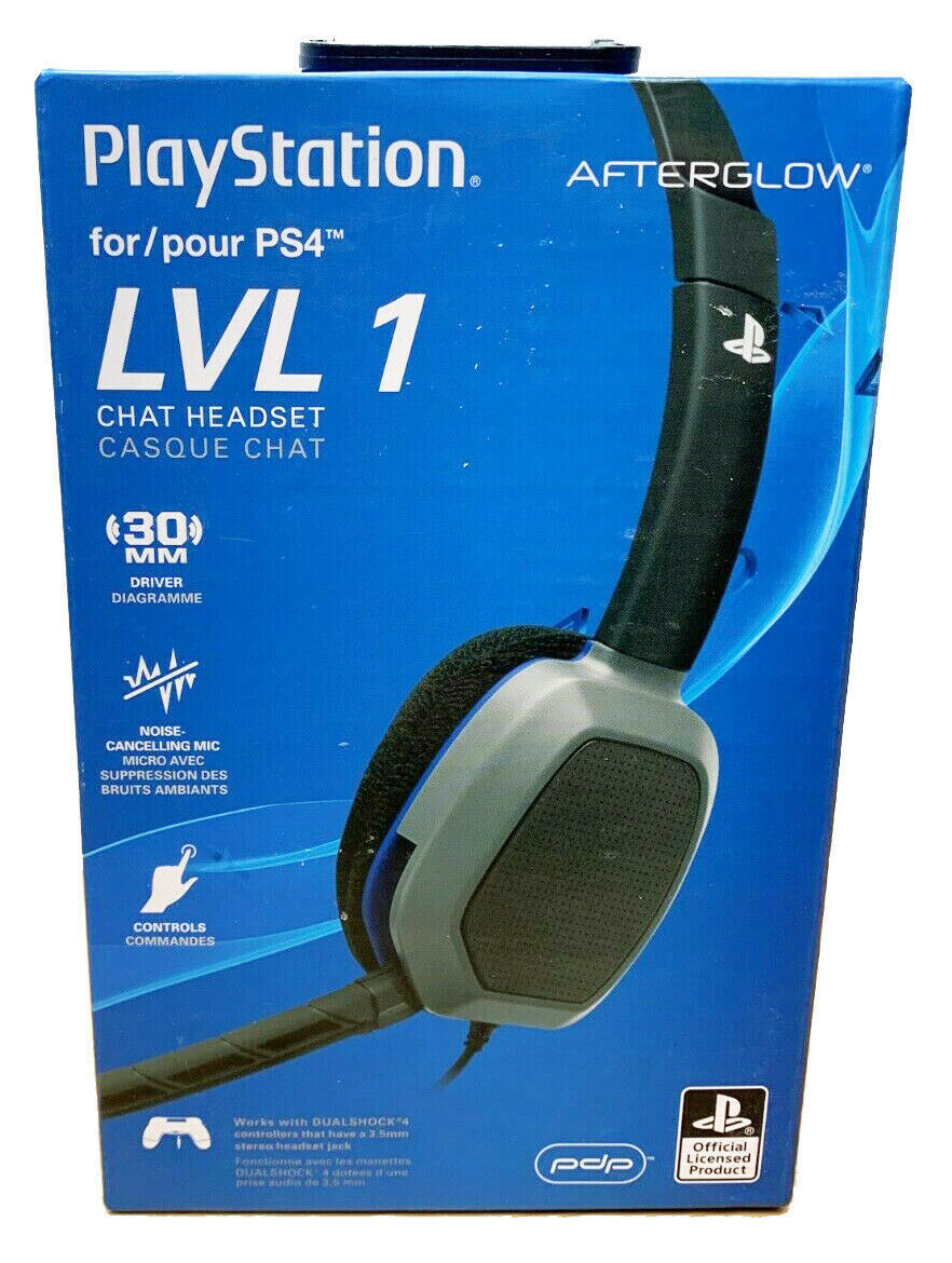 Afterglow LVL 1 Chat Gaming Headset for PS4 Playstation 4 NEW in Box