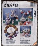 McCall's 6921 HOP INTO SPRING Easter Ornaments Pattern - $8.98