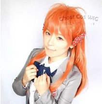 Gekkan Shoujo Nozaki-kun Chiyo Sakura Orange Halloween Cosplay Party Costume Wig - $21.91+