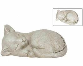 Beloved Cat Sleeping Kitten Memorial Figurine Pet Marker - $18.99