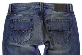 DIESEL MEN'S DESIGNER DENIM REGULAR SLIM STRAIGHT JEANS LARKEE 00751 Size 30x30 image 1