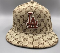 New Era 59Fifty Hat Mens MLB Los Angeles Dodgers Tan GG Patten Fitted 59... - $19.60