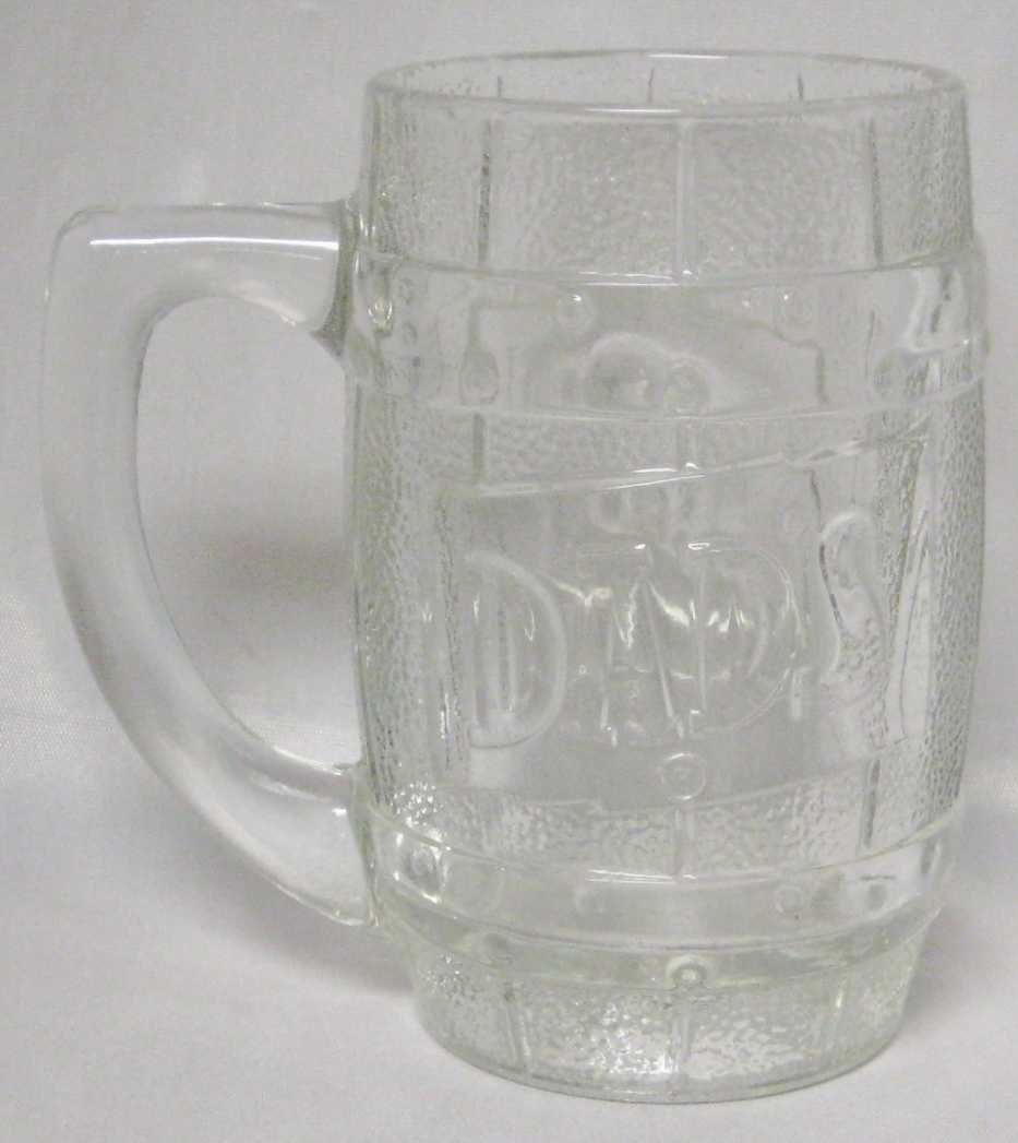 Dad's Root Beer Clear Glass Barrel Mug Original