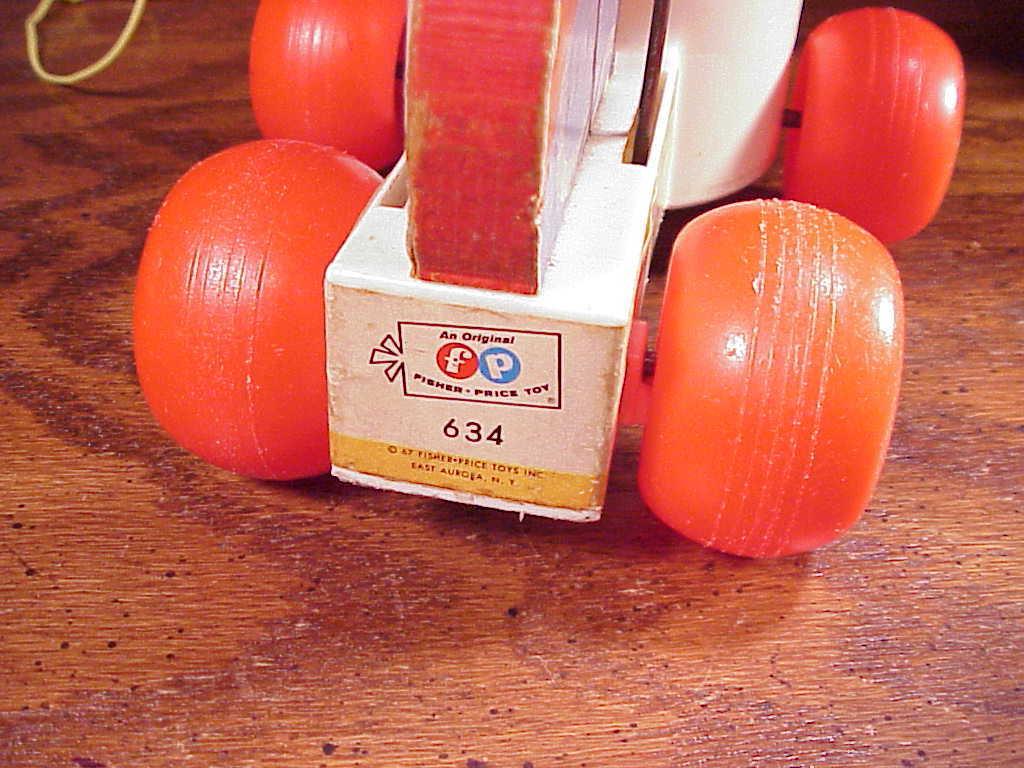 1967 Fisher-Price Drummer Boy Pull Toy,  no. 634