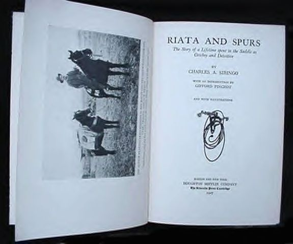 Riata & Spurs Book Charles Siringo Pinkerton Detective Agency Mining West Idaho