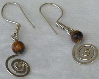 Primary image for   Brown greek earrings