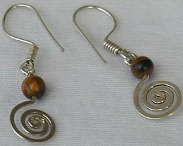 Brown greek earrings - $12.00