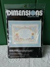 Dimensions Stamped Cross Stitch Kit Bedtime Blessings Kids Baby Needlework Vtg - $15.39