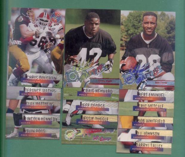 1995 Stadium Club Atlanta Falcons Football Team Set