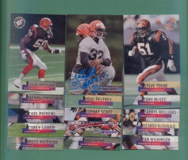 1995 Stadium Club Cincinnati Bengals Football Set