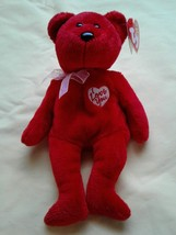 "Ty Beanie Baby SECRET the Red Bear with Heart on chest says ""I Love You"" NEW - $9.65"