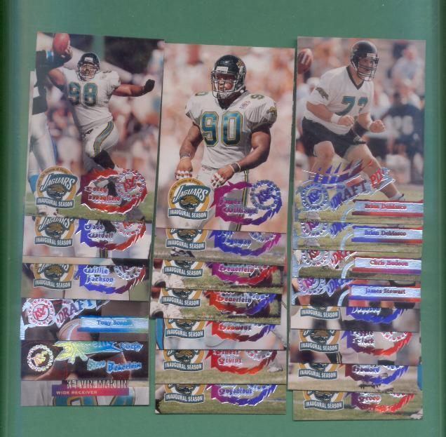 1995 Stadium Club Jacksonville Jaguars Football Set