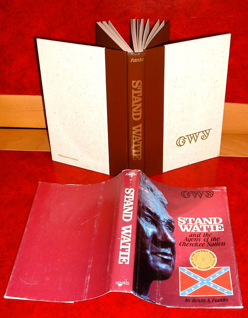 Stand Watie by Kenny Franks book Cherokee Agency War General  1979 Oklahoma