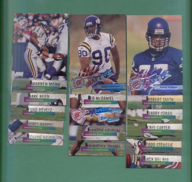 1995 Stadium Club Minnesota Vikings Football Team Set