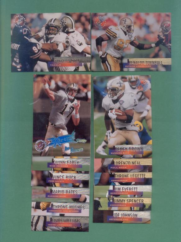 1995 Stadium Club New Orleans Saints Football Set