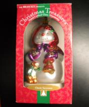 Brass Key Christmas Ornament 2000 Christmas Treasures Classic Caped Snowman Box - $10.99