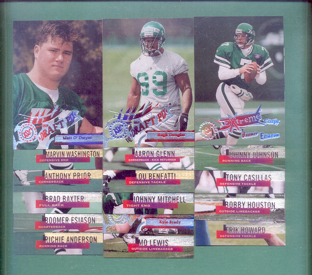 1995 Stadium Club New York Jets Football Team Set