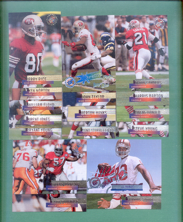 1995 Stadium Club San Francisco 49ers Football Team Set