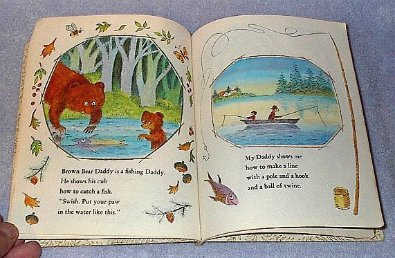 Animal Daddies and My Daddy 576 Children's Vintage Little Golden Book