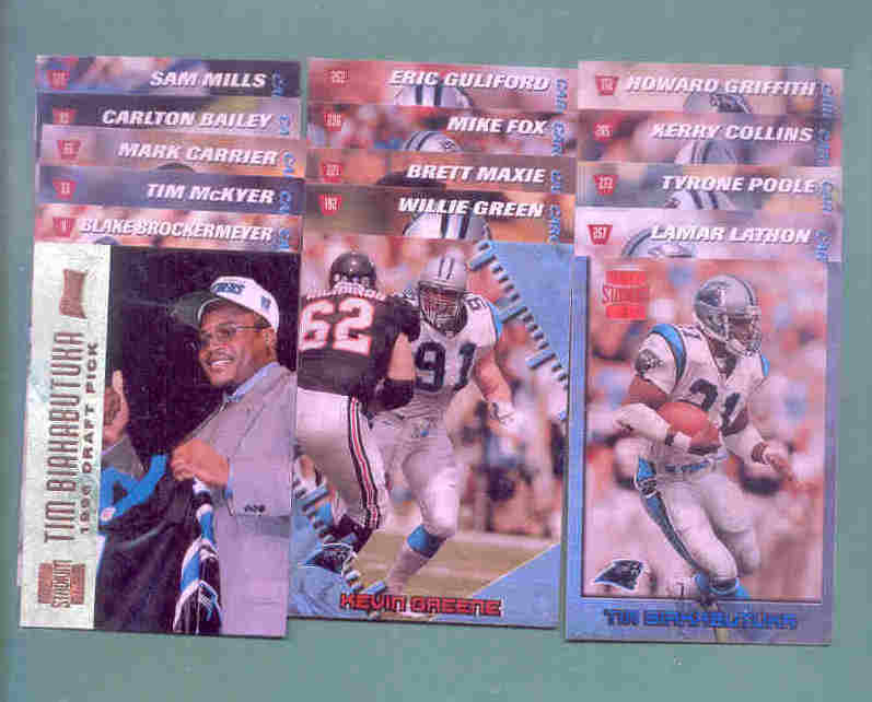 1996 Stadium Club Carolina Panthers Football Team Set
