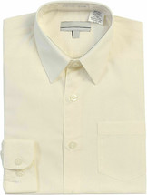 Boy's Classic Fit Long Sleeve Button Down Kids Off White Dress Shirt - Size 6 image 1