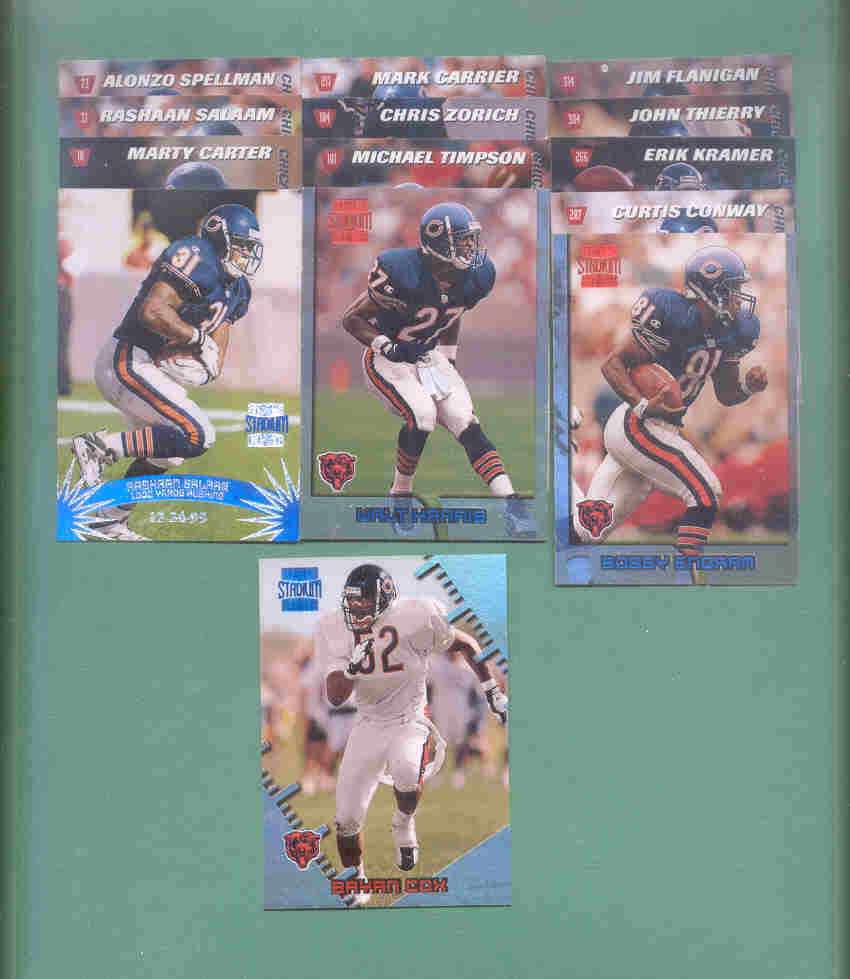 1996 Stadium Club Chicago Bears Football Set