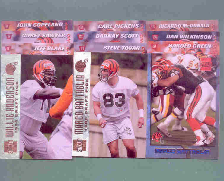 1996 Stadium Club Cincinnati Bengals Football Team Set