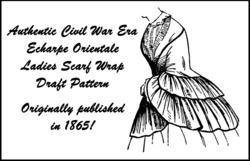 1865 Civil War Antebellum Ladies Casaque Jacket Draft Pattern Reenactment Garb