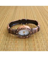 Copper Bangle Watch  With Tiny Crystals - $18.88