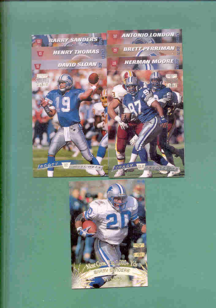 1996 Stadium Club Detroit Lions Football Team Set