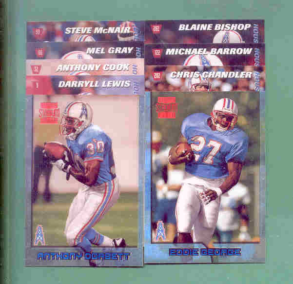 1996 Stadium Club Houston Oilers Football Set