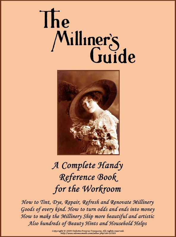 1917 Millinery Book Renovate Repair Hats Milliner Guide Dye Renovate Feathers