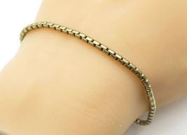 925 Sterling Silver - Vintage Petite Snake Link Twist Chain Bracelet - B... - $37.44