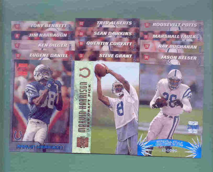 1996 Stadium Club Indianapolis Colts Football Team Set