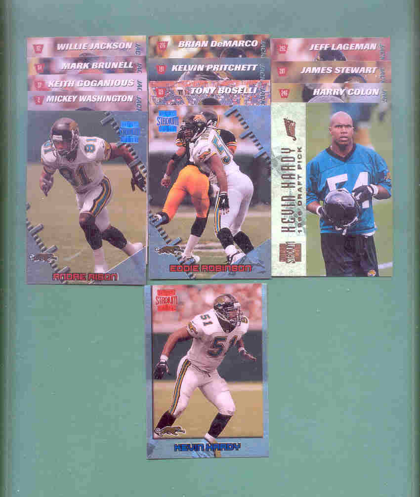 1996 Stadium Club Jacksonville Jaguars Football Team Set