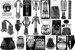 Gibson Girl Era Book Beaded Purses Beadwork La CROIX 1910 Bead Satoire Necklaces