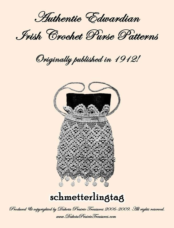 Primary image for Irish Crochet Book Purse Patterns WWI Titanic Bags 1912 Reenact Purses Ireland 2