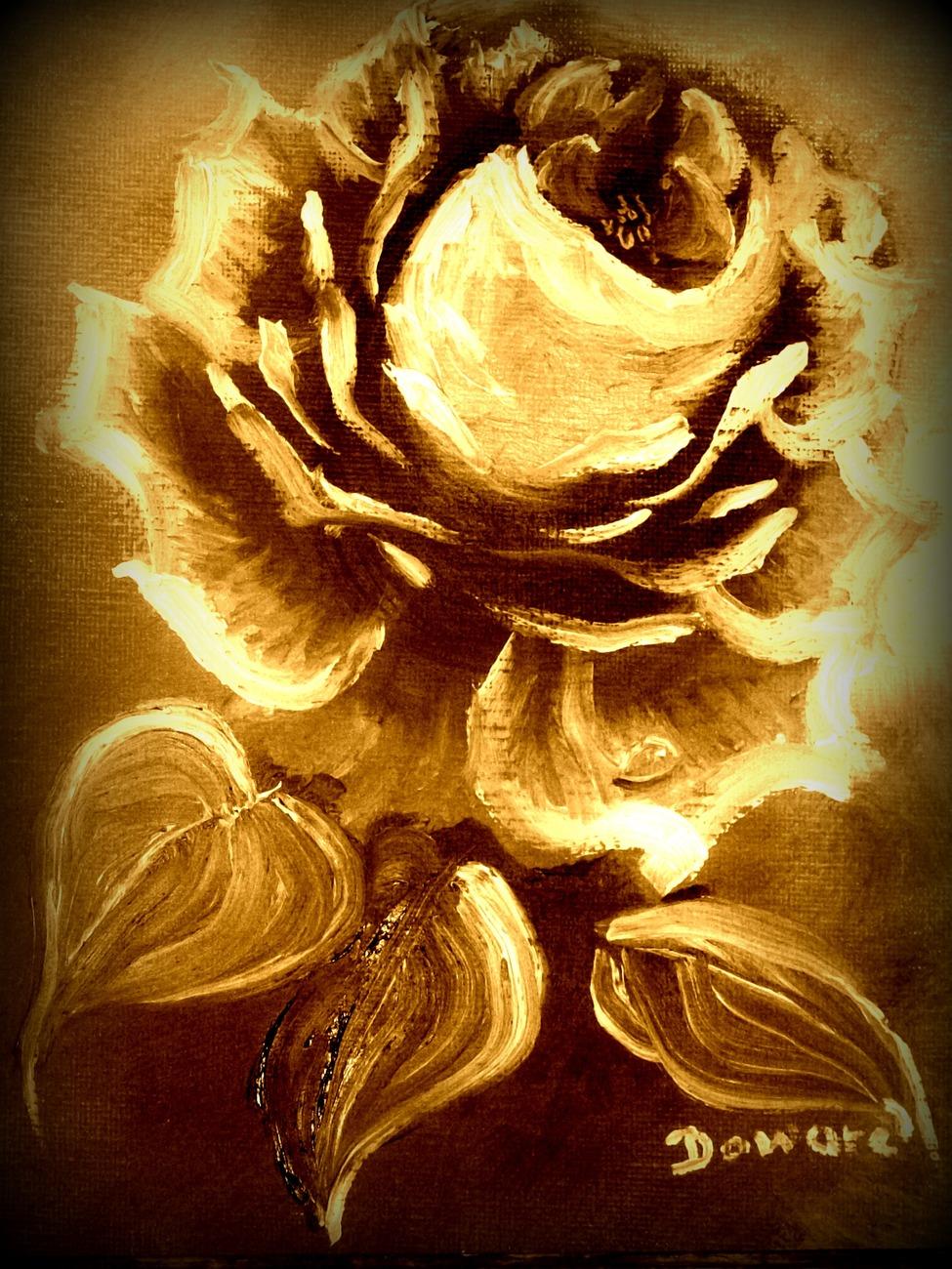 100 2319 single rose sepia