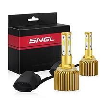 SNGL 881 LED Fog Light Bulb 6000k White Max 5800LM, Fanless 881 889 862 886 894