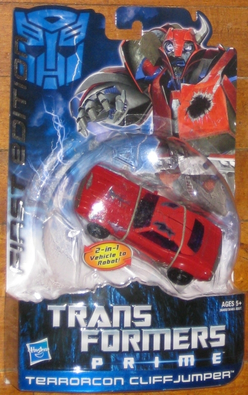* Transformers Prime First Edition Terrorcon Cliffjumper MOC