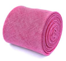 Frederick Thomas tinta unita rosa acceso di lino ruvida CRAVATTA ft1968