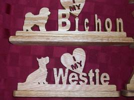 Wooden Bichon and Westie display - $15.00